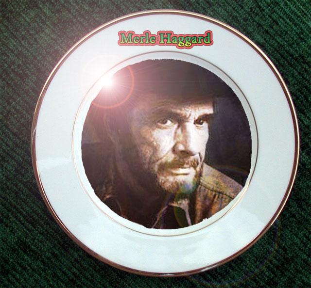 Merle Haggard plate