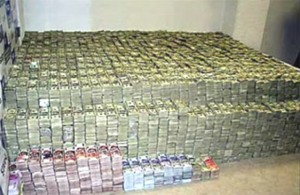 Seized narco-money