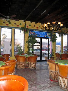 The colorful Paraiso Restaurant