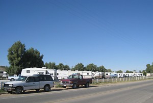 Trailers on the US side of the border