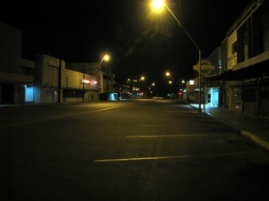 Deserted downtown Mexicali