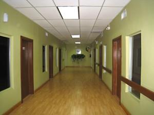 The hospital's hallway