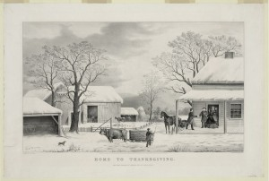 Thanksgiving by Currier and Ives