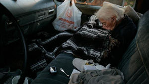 97 year old woman living in her car
