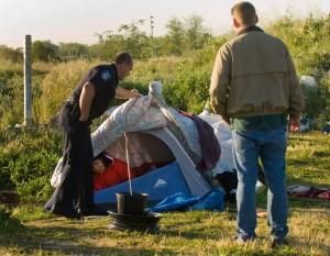 Tent City Police Raid