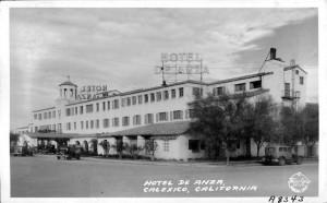 The De Anza Hotel, built in 1932