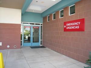 Entrance to El Centro emergency room