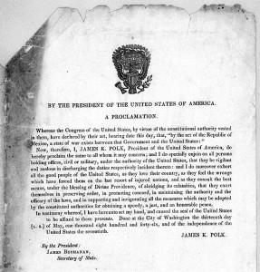 U.S. Declaration of War against Mexico