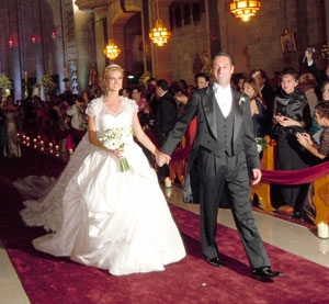 Carlos Slim Jr. and his bride