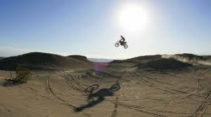 Ocotillo dirt bike jumping ramp