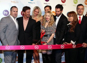 Madonna ribbon cutting with Mexico City Mayor on far right