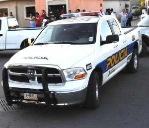 Most Mexicali police are in trucks
